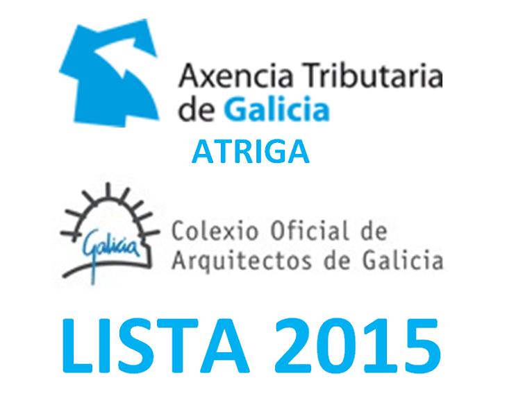 Lista da Axencia Tributaria de Galicia 2015