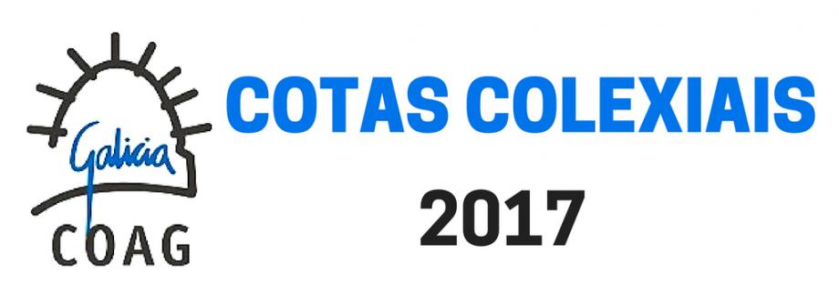 Cotas colexiais 2017. Apertura prazo de configuración