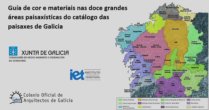 Información sobre o Concurso para o desenvolvemento dunha Guía de cor e materiais nas doce grandes áreas paisaxísticas do Catálogo das Paisaxes de Galicia