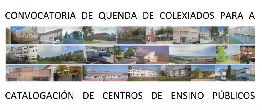 Convocatoria de quenda de arquitectos colexiados no COAG para a catalogación de centros de ensino públicos