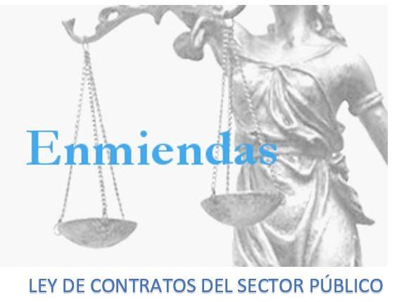 Apoio ás emendas do CSCAE á Lei de Contratos do Sector Público