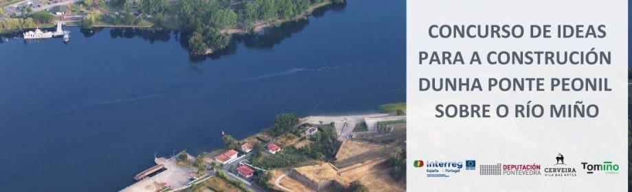 Concurso de ideas para a construción da ponte peonil que unirá Tomiño e Vila Nova da Cerveira
