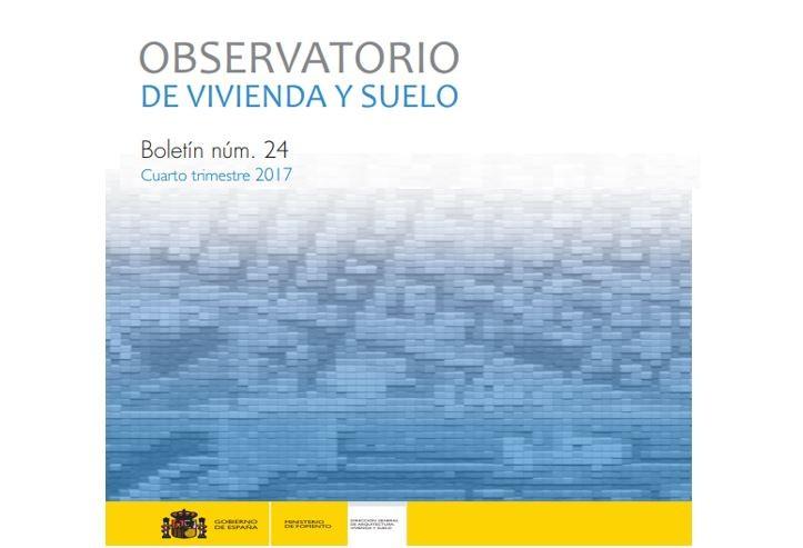 Boletín 4º trimestre 2017 del Observatorio de Vivienda y Suelo