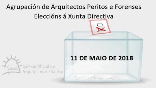 Eleccións á Xunta Directiva da Agrupación de Arquitectos Peritos e Forenses do COAG