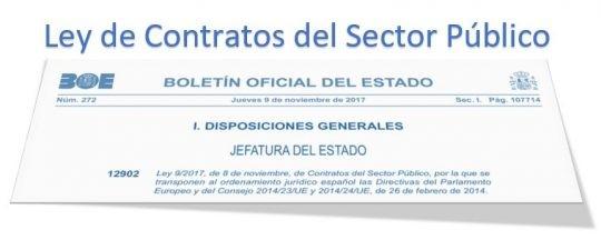 Entrada en vigor de la nueva Ley de Contratos del Sector Público.