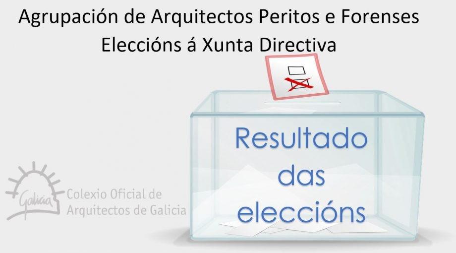 Resultado das eleccións á Xunta Directiva da Agrupación de Arquitectos Peritos e Forenses