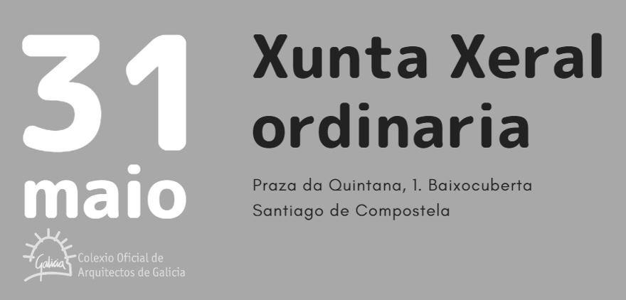 Xunta Xeral ordinaria: 31 de maio de 2018
