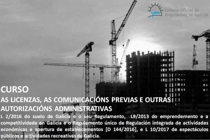 Curso sobre licenzas, comunicacións previas e outras autorizacións administrativas. Fin de plazo de inscrición edición Ourense