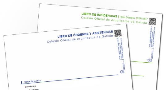 Novidades no tratamento dos Libros de ordes e asistencias e dos Libros de incidencias nos trámites de rexistro das documentacións de seguimento de obra