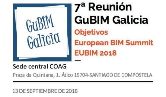 Convocatoria de la 7ª reunión del grupo de usuarios BIM de Galicia