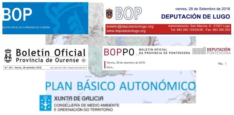 Publicación do Plan Básico Autonómico nos boletíns provinciais