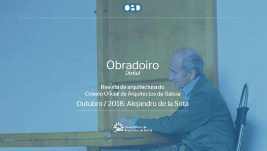 Novo número de outubro 2018 de Obradoiro Dixital: Alejandro de la Sota