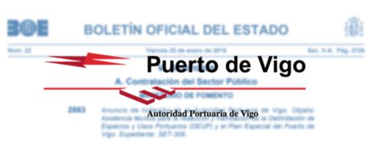 Concurso de asistencia técnica para la redacción y tramitación de la Delimitación de Espacios y Usos Portuarios (DEUP) y el Plan Especial del Puerto de Vigo