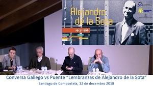 """Conversa de Manuel Gallego e Carlos Puente """"Lembranzas de Alejandro de la Sota"""""""