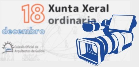 Dispoñible a gravación da Xunta Xeral ordinaria do 18 de decembro de 2018