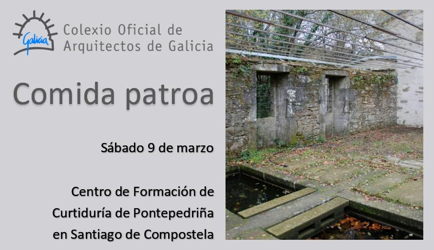 Comida da patroa do Colexio | sábado 9 de marzo | Curtiduría de Pontepedriña en Santiago