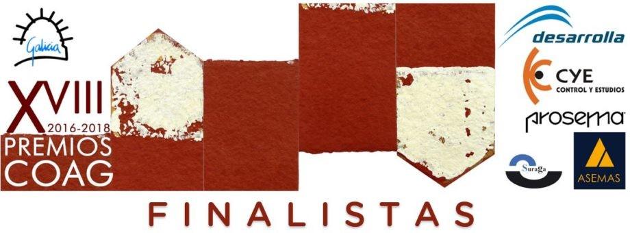 Publicación das candidaturas finalistas aos XVIII Premios COAG de Arquitectura
