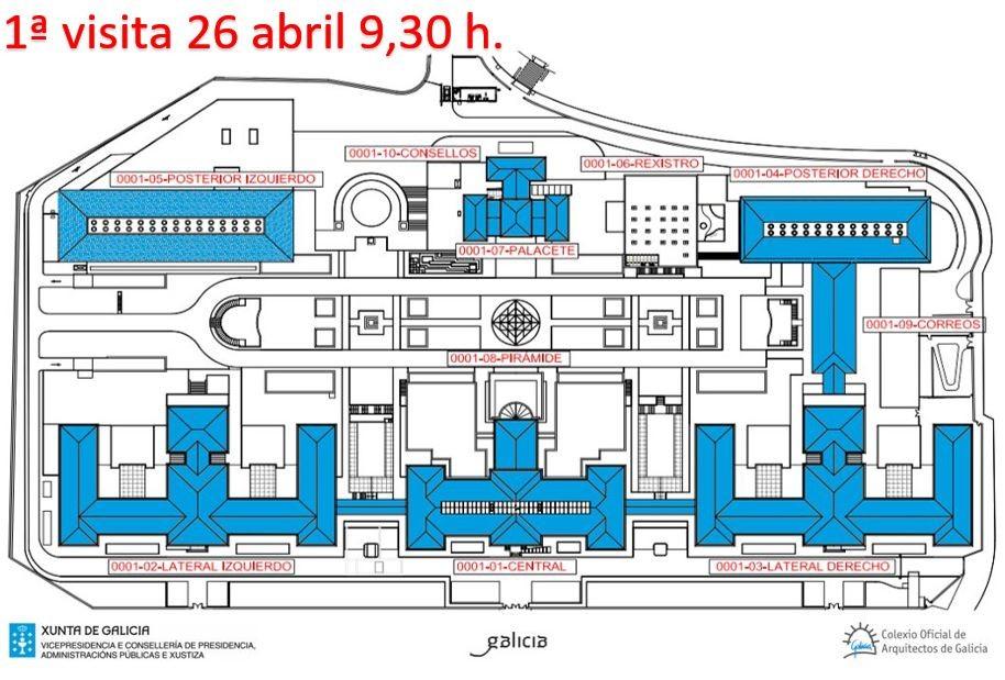 Importante | 1ª visita aos edificios afectados Concurso reforma interior e reorganización da ocupación do Complexo Administrativo de San Caetano