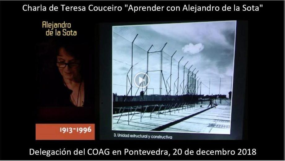 Publicada a gravación da charla de Teresa Couceiro «Aprender con Alejandro de la Sota»