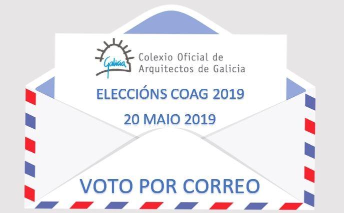 Eleccións COAG 2019: Aberto o prazo para solicitar o voto por correo