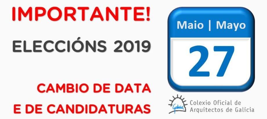 Acordos da Xunta de Goberno sobre os recursos presentados contra a proclamación de candidaturas e cambio de data das eleccións colexiais
