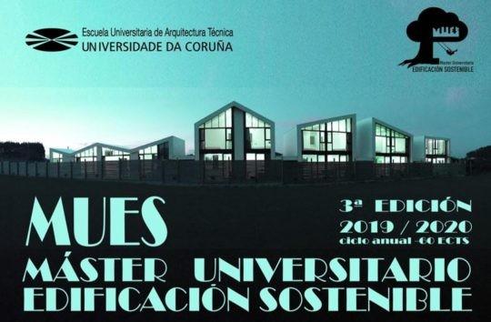 Master Universitario Edificación Sostenible 2019 – 2020 de la Universidad de A Coruña