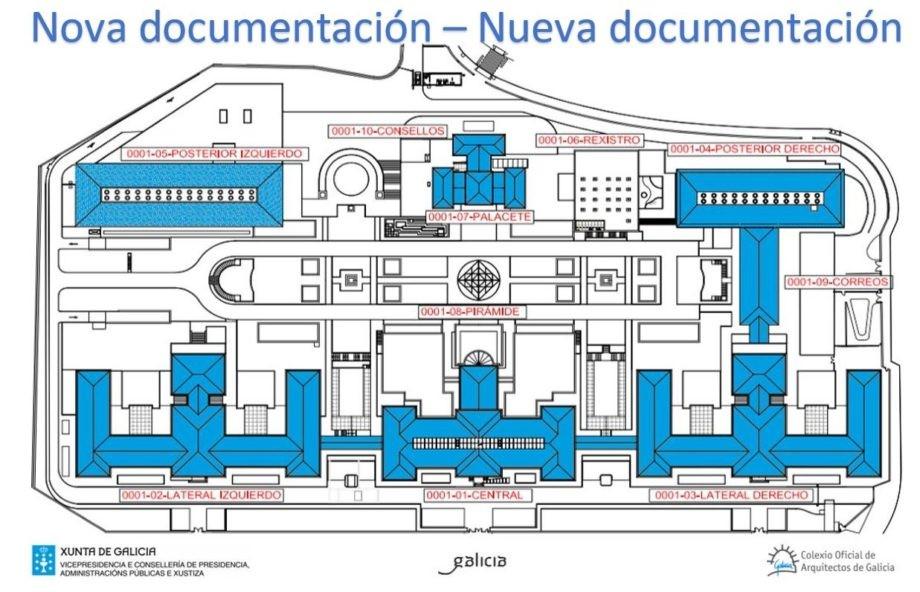 Nova documentación do Concurso de ideas con intervención de xurado, para a reordenación do Complexo Administrativo da Xunta de Galicia en San Caetano (Santiago de Compostela)
