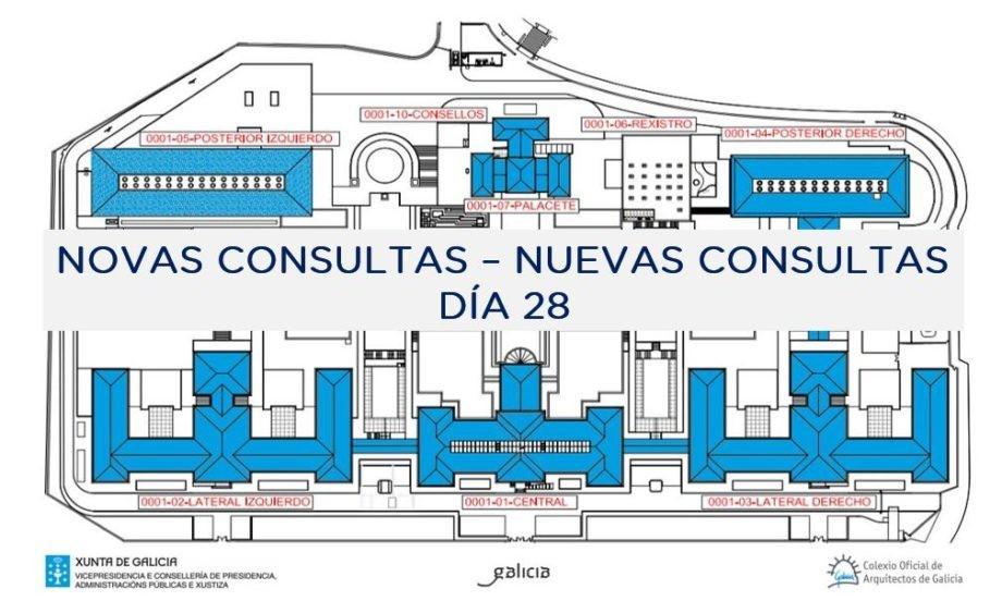 Concurso ideas Edificios Administrativos San Caetano | Novas consultas respostadas, 28 de maio