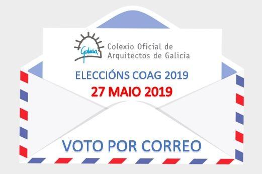 Eleccións COAG  27 de maio de 2019: Ampliado o prazo para solicitar o voto por correo ate o 22 de maio