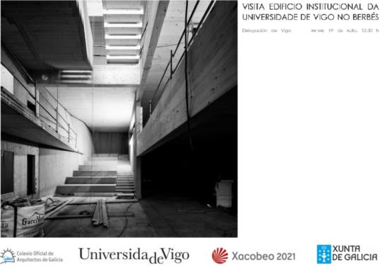 Aberta preinscrición para organizar unha segunda visita ao edificio institucional da Universidade de Vigo no Berbés