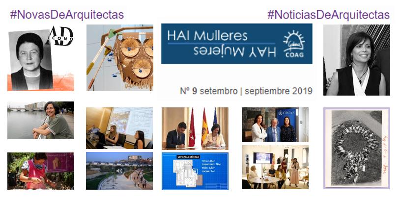 Dispoñible o Nº 9 de #NovasDeArquitectas #NoticiasDeArquitectas