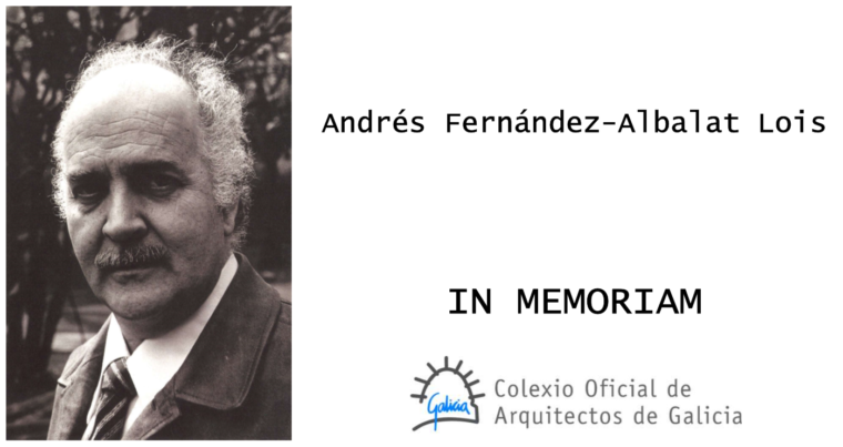 Falecemento de Andrés Fernández-Albalat Lois