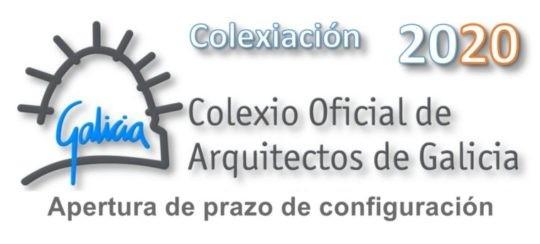 Apertura do prazo para a configuración da colexiación 2020