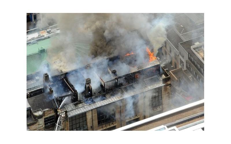 El incendio que arrasó la Escuela de Arte de Glasgow