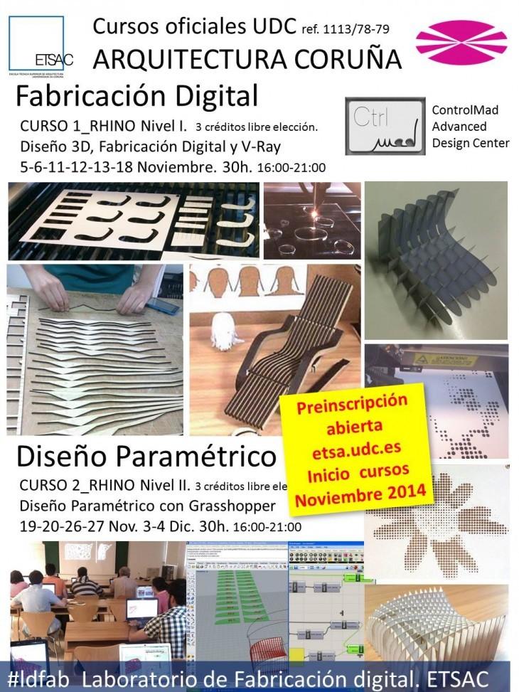 Cursos oficiales UDC. Escuela Técnica Superior de Arquitectura de A Coruña. Fabricación Digital.