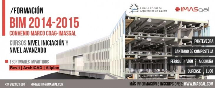 Formación BIM 2014 – 2015 | Convenio marco COAG – IMASGAL  Revit | ArchiCAD | Allplan. Novas datas