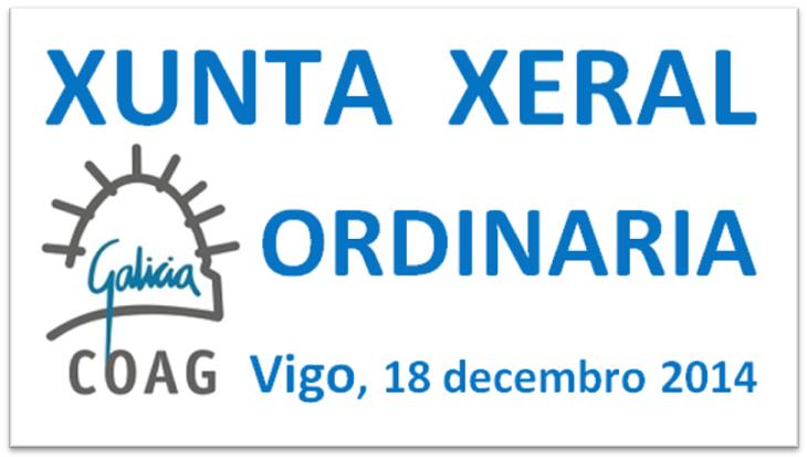 Xunta Xeral ordinaria de 18 de decembro de 2014