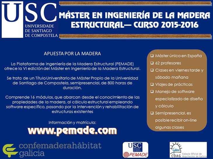 Máster en Enxeñería da Madeira Estructural