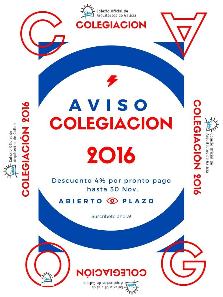 Aviso colegiación 2016