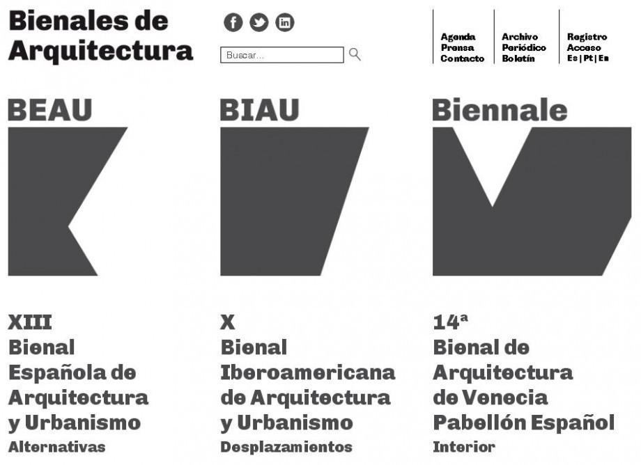 XIII Bienal Española de Arquitectura y Urbanismo y la X Bienal Iberoamericana de Arquitectura y Urbanismo