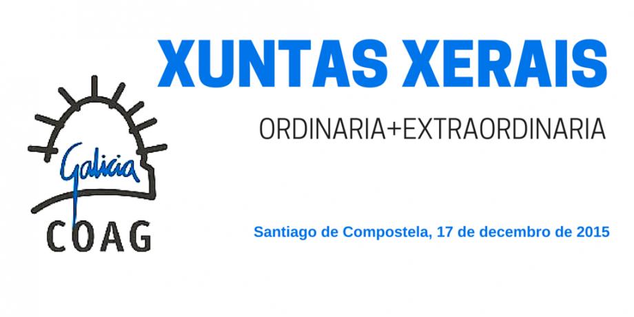 Xuntas Xerais, 17 de decembro de 2015: ordinaria e extraordinaria