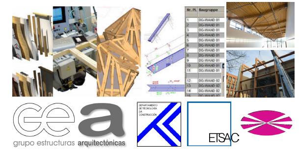 ETSAC. Curso de diseño estrutural con cadwork e taboleiro contralaminado