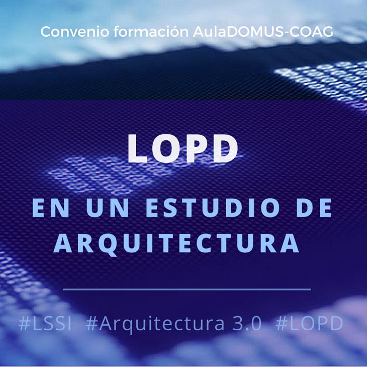Curso de Introducción á LOPD nun estudo de Arquitectura.