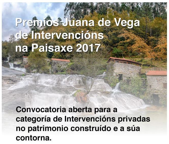 Premios Juana de Vega de Intervencións na Paisaxe 2017