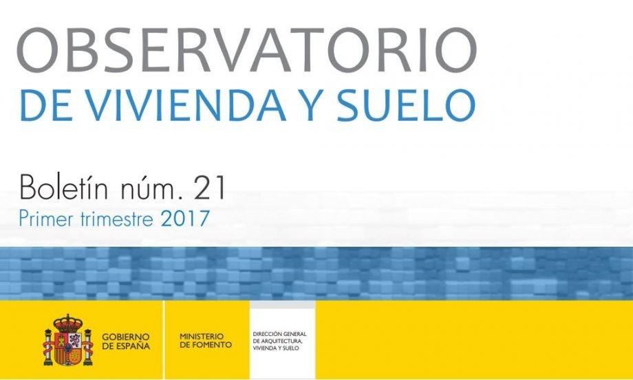 Boletín primer trimestre 2017 Observatorio de Vivenda y Suelo