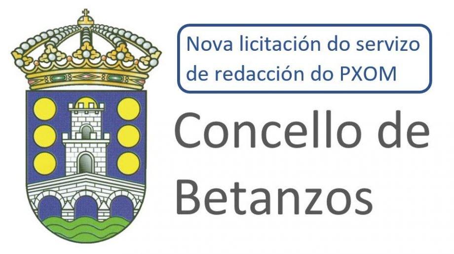 Concello de Betanzos. Nova licitación do servizo de redacción do Plan Xeral de Ordenación Municipal do Concello de Betanzos 2017-2021