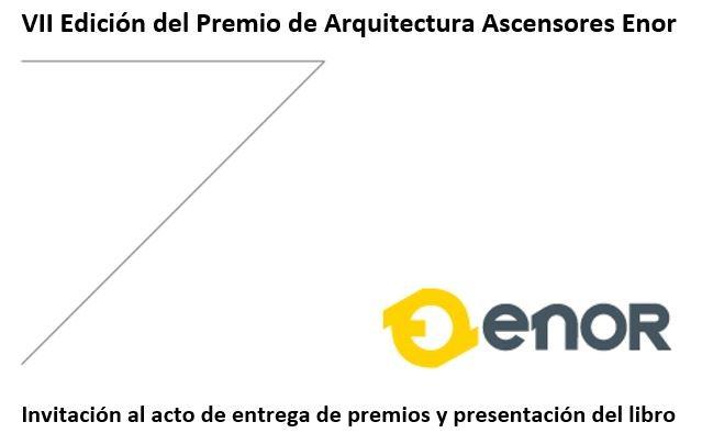 Invitación al acto de entrega de premios de Arquitectura Ascensores Enor