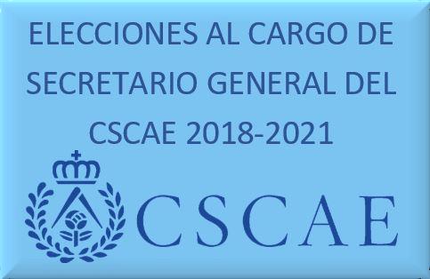 Elecciones para Secretario General del Consejo Superior de los Colegios de Arquitectos de España 2018-2021