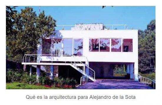 Video «Qué es la arquitectura para Alejandro de la Sota»