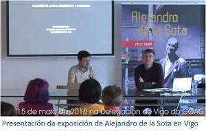 Presentación Exposición Alejandro de la Sota en Vigo